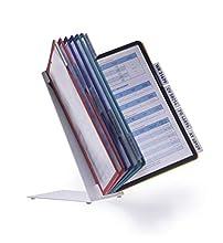Durable 557000 Sistema de paneles de visualización de la mesa (Vario Table 10, con 10 paneles de visualización A4) multicolor