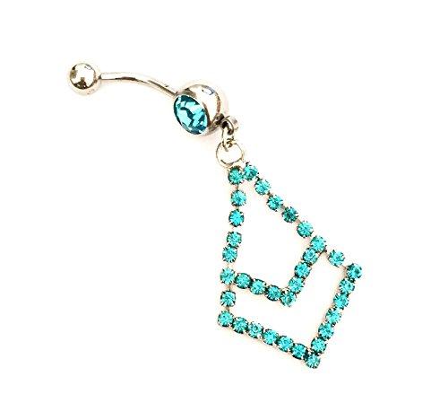 hyidealism azul diseño de cadenas con Ombligo Ombligo Barbell Anillo Body Piercing perforadas joyas