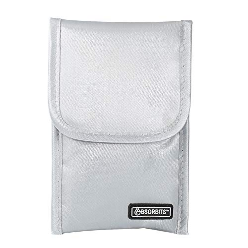 ABSORBITS Wet Cell Phone Rescue Pouch, Drying Kit for Mobile Phones, Reusable, Silver