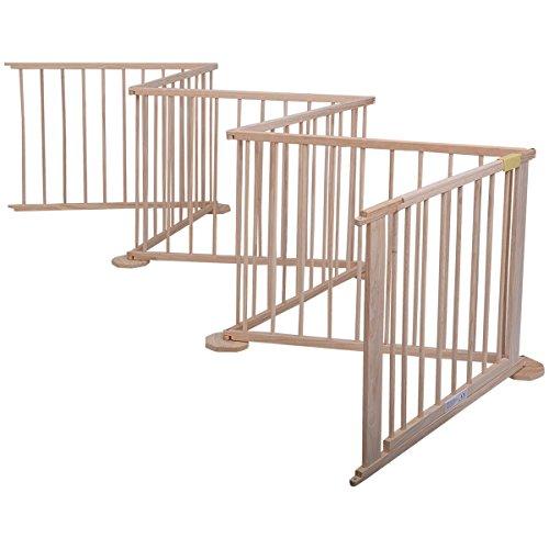 Costzon Baby Playpen 6 Panel Wooden Frame Kids Play Center