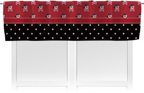 RNK Shops Pirate & Dots Valance - Unlined (Personalized) (Dot Circle Valance)