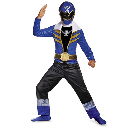 [Saban Super MegaForce Power Rangers Classic Boys Costume-Size 4t-6t (Blue Ranger)] (Power Rangers Megaforce Halloween)