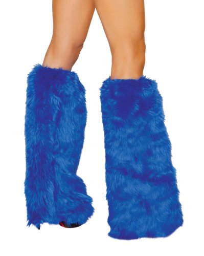 Roma Costume Faux Fur Boot Covers, Royal Blue, One Size