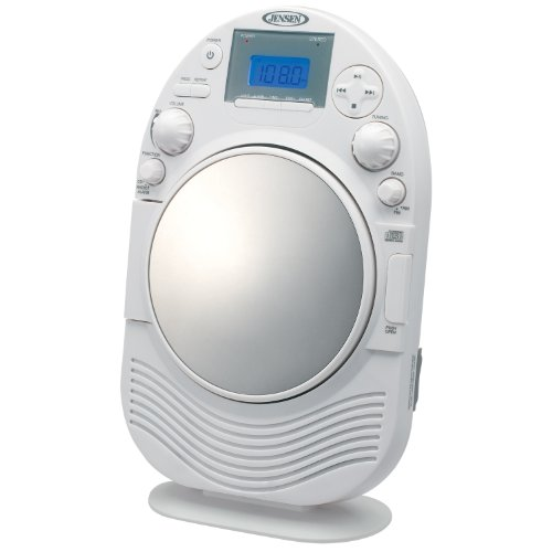 Jensen JCR525 AM/FM Stereo Shower Radio with CD Slot