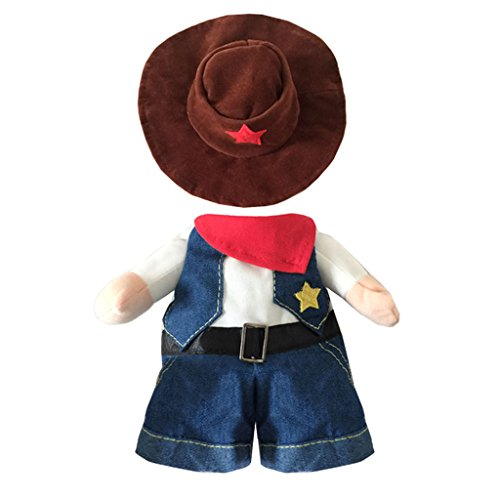 yolsun Dog Cat Halloween West Cowboy Costume for Small Medium Pet(Blue) (M) ()
