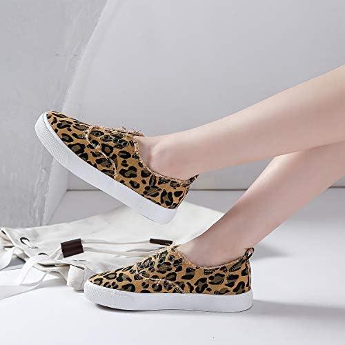 Women's Slip on Sneakers Walking Shoes Casual Girls Canvas Fashion Sneakers