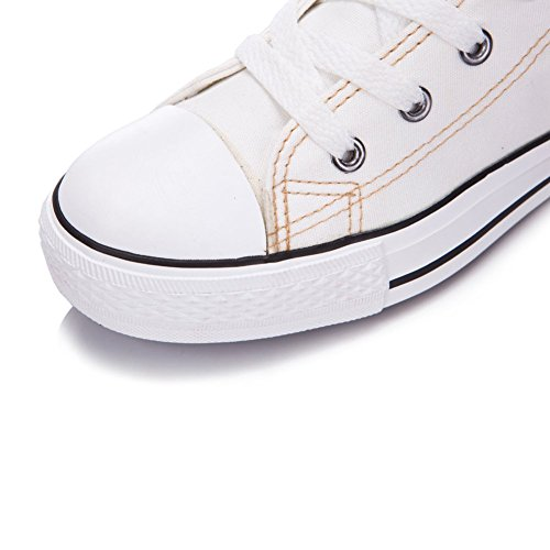Newcosplay Rodilleras Con Cordones Para Mujer Zip Zip Dance Cheerleading Zapatos Botas 801white