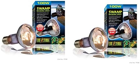 (2 Pack) Exo Terra Swamp Glo Basking Spot Lamp, 100 Watt