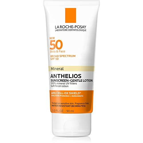 Anthelios Body and Face Mineral Sunscreen SPF 50, Soft Finish Lotion with 100% Mineral UV Filters, 3.0 Fl. Oz. (Best Physical Sunscreen For Melasma)