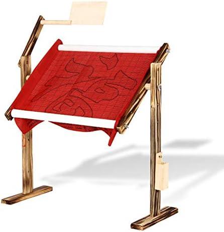 in Legno Massiccio Croce Rack Supporto Regolabile Desktop Ricamo a Punto Croce Tapestryframe Abboard Punto Croce Telaio Supporto da Pavimento