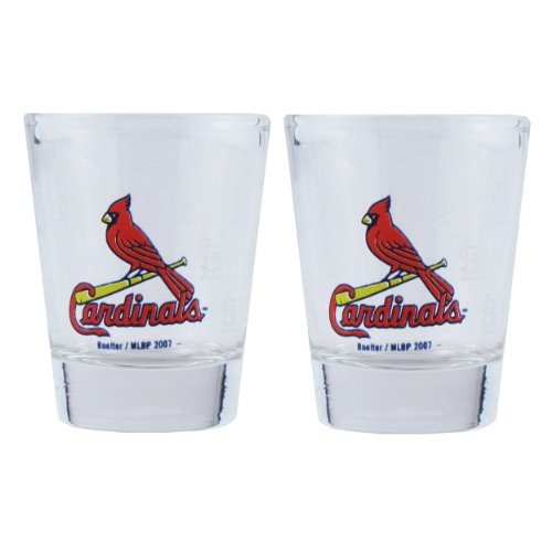 Boelter Brands MLB St. Louis Cardinals Shot GlassSatin Etch Style 2 Pack, Team Color, One Size