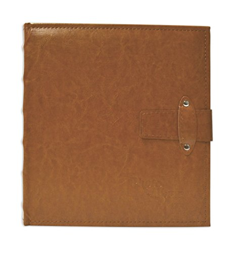 Golden State Art, Brown Photo Album with Faux Leather Cover and Strap Closure For 200 5x7 Pictures, 2 Per Page by Golden State Art