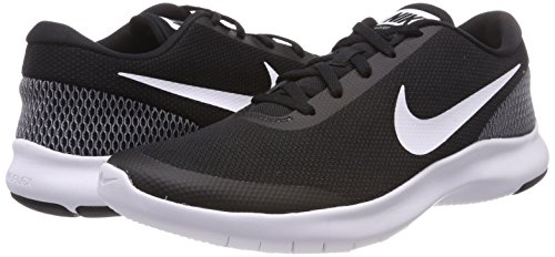 Nike Women's Flex Experience Run 7 Shoe, Black White, 8 Regular US