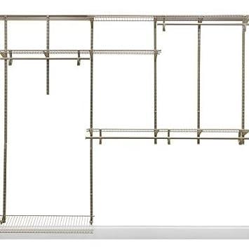 ClosetMaid ShelfTrack 5 Ft.   8 Ft. Nickel Closet Organizer Kit