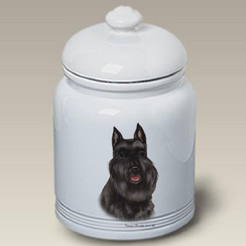 Schnauzer Black Cropped - Tamara Burnett Treat Jars ()