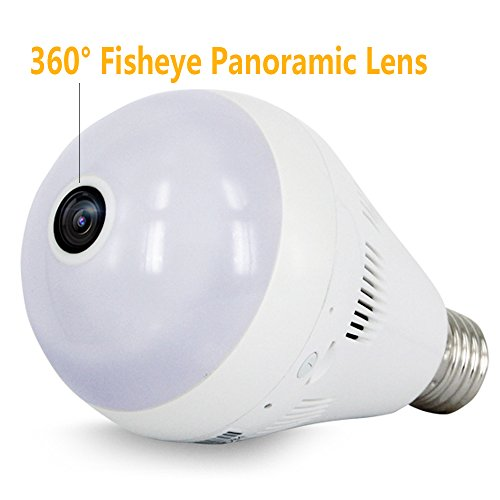 Loras-Dome-Camera-Home-Motion-Sensor-Security-Cam-Light-LED-Bulb-Lamp-Camera-Wifi-IP-Wireless-Surveillance-System-Pet-Baby-Monitor-Support-Motion-Detection-Loop-Recording-Two-way-Talk