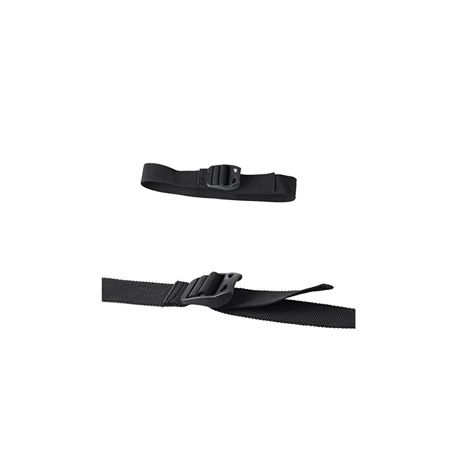 """XTACER Molle Backpack Accessory Strap Luggage Straps Cover Strap Sleeping Bag Strap with Buckle (Black (2pcs 47"""", 2pcs 31"""", 2pcs 20""""))"""