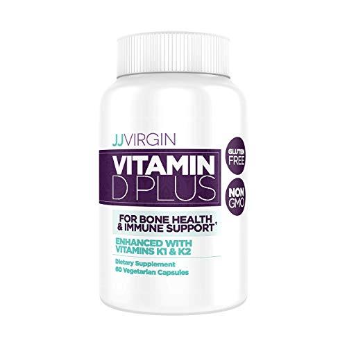 JJ Virgin Vitamin D Plus - 5000 IU, Bone Health & Immune Support, 60 Vegetarian Capsules