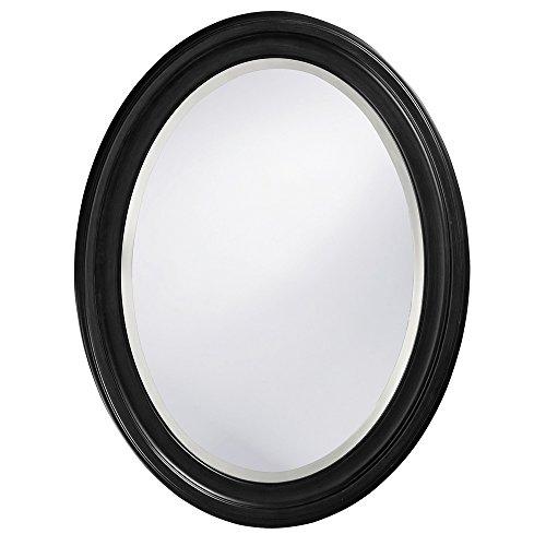 Howard Elliott George Mirror, 40106, Oval, Matte Black ()