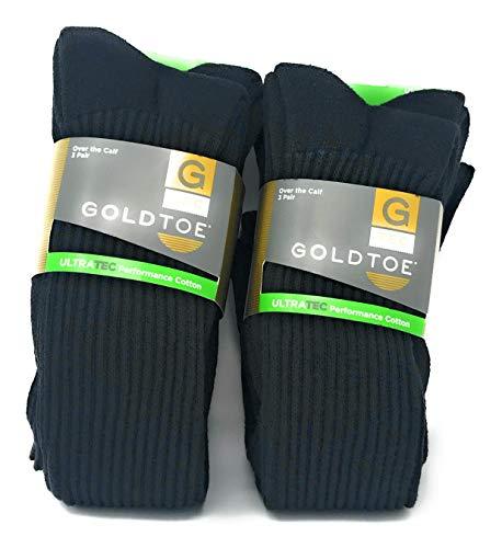 (Gold Toe Men's OTC Athletic Socks- 2PK(6 pairs))