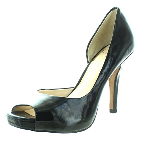 Jessica Simpson Peep Toe Pumps (Jessica Simpson Josette D'Orsay Women's Open Toe Heels Black Size 6)