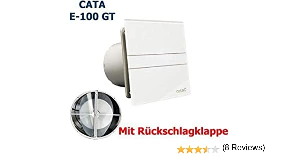 Ventilador E-100 GT de CATA, con válvula de retenciónTemporizador ...