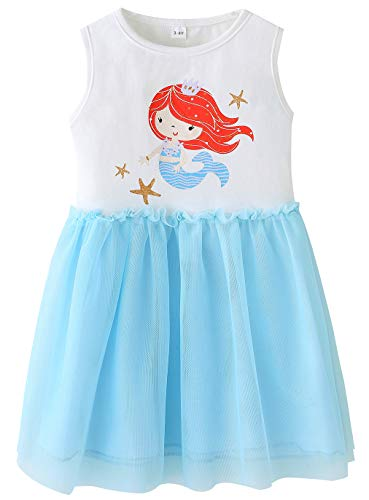 Fiream Big Girls Mermaid Tutu Dresses(JP013,9-10Y)