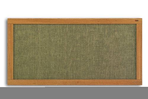 Marsh 48x120 Cotton Vinyl Bulletin, Oak Wood Trim electronic consumers
