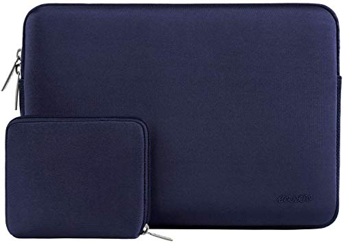 MOSISO Laptop Sleeve Compatible with 2018-2020 MacBook Air 13 inch A2179 A1932, 13 inch MacBook Pro A2251 A2289 A2159 A1989 A1706 A1708, Water Repellent Neoprene Bag with Small Case, Navy Blue