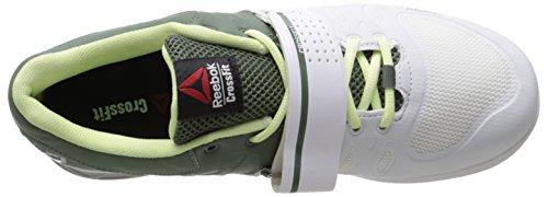 Reebok acero Crossfit cítrico 2 0 brillo verde blanco R mujer para Lifter de Zapatillas entrenamiento plateado 1BwHxR