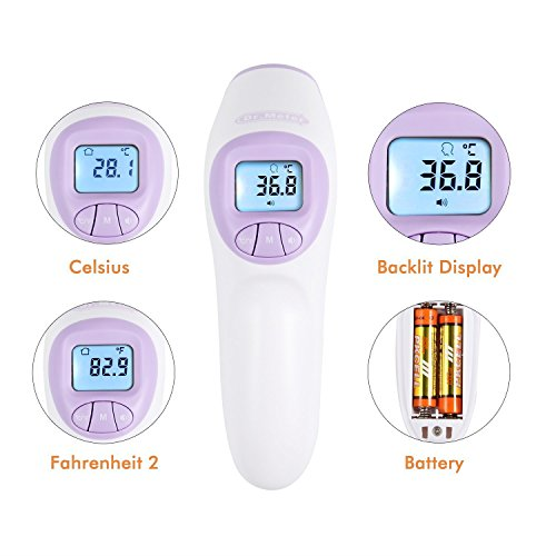no touch thermometer instructions