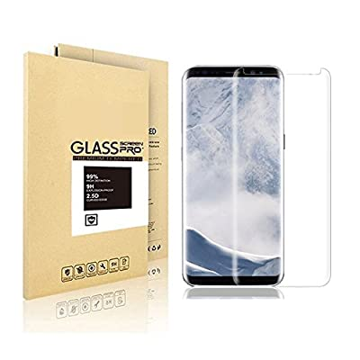 Samsung Galaxy S8 Tempered Glass Screen Protector, VIVPOOP[Touch Agile 3D Glass][Easy to Install] [9H Hardness]for Samsung Galaxy S8