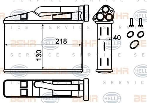 BEHR HELLA SERVICE 8FH 351 333-204  W/ärmetauscher Innenraumheizung