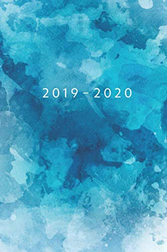 2019 - 2020: Weekly Planner Starting July 2019 - Dec 2020 | 6 x 9 Dated Agenda | Appointment Calendar | 18 Month Organizer Book | Soft-Cover Watercolor Blue