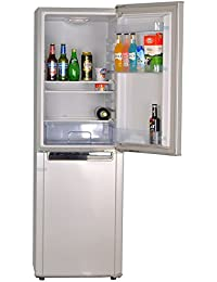 Smad 72W Solar Refrigerator with Freezer Upright Refrigerator,7 Cu Ft, Double Door, Low Voltage