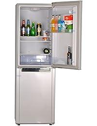 Smad 72W Solar Refrigerator with Freezer Upright Refrigerator,7 Cu Ft, Double Door, Low Voltage