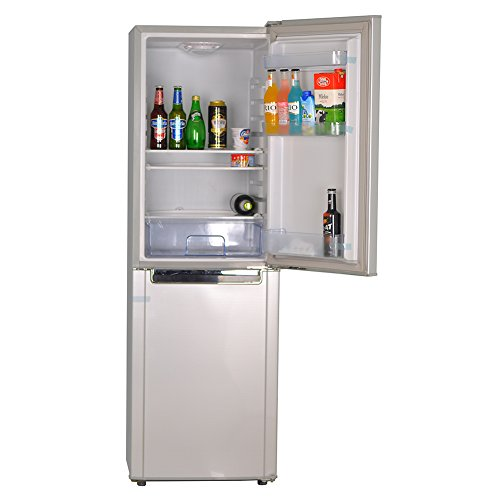 Smad 72W Solar Refrigerator with Freezer,7 Cubic. ft, Double Doors, Low Voltage