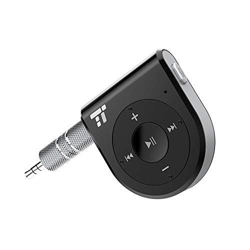 TaoTronics Bluetooth Receiver, 15 Hour Bluetooth Car Kit, Wireless Audio Bluetooth Car Adapter(One Click Siri Activation,DSP/CVC 6.0/A2DP/AVRCP) (Renewed)