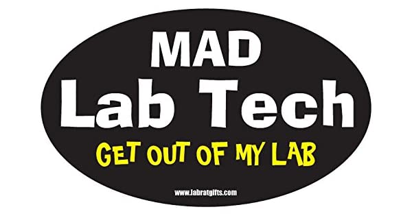 Science ThemedMad Chemist Get Out of My Lab Sticker