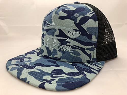 SALTWATERSOUL Hat Snapback Trucker Hat Fishing Cap Flatbill Tarpon Blue Camo ()