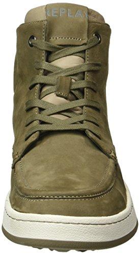 Replay Colony GMZ70 000 C0001L - Zapatillas para Hombre, Color Verde (Taupe 57), Talla 40