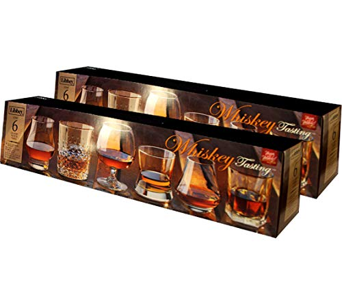 Libbey Whiskey Tasting Glasses, 6 Piece Assorted Set (Pack Of 2)