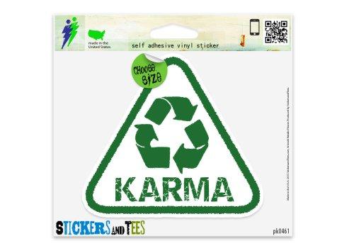 Karma Recycle Green Peace Vinyl Car Bumper Window Sticker 6