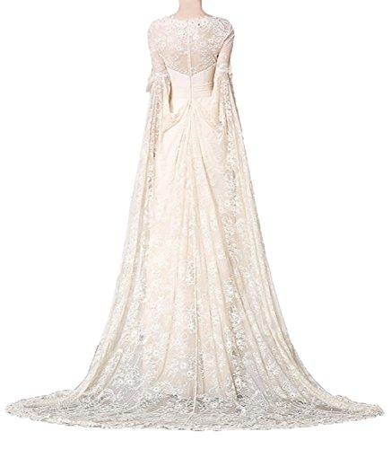 Linie Damen A Spitze Langarm Charmant Partykleider Formalkleider Festlichkleider Rosa Ballkleider Abendkleider Brautmutterkleider 8qgwwp0d