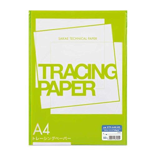 [해외]SAKAE 기술 종이 페이퍼 A4 50 장 S 경시 STP-A4K-65 / SAKAE Technical Paper Tracing Paper A4 50 Pcs STracing STP-A4K-65