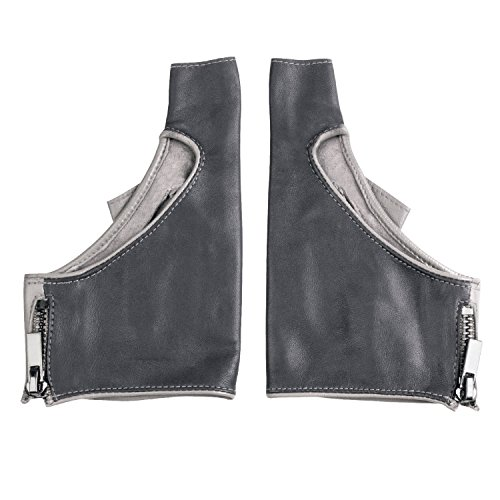 - Fioretto Womens Half Finger Fingerless Driving Motorcycle Leather Gloves Unlined Grey