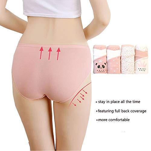 547e748fba9ee Bossail Women s Maternity Panties 4-Pack Low Rise Plus Size Cotton  Pregnancy Underwear