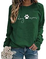Hond mom sweatshirt vrouwen hond mama shirt trui schattige hond trui lange mouw brief print t-shirt tops