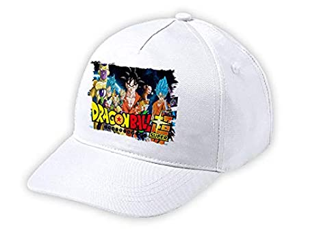 MERCHANDMANIA Gorra NIÑO Dragon Ball Super Logo Anime Blanca Kid Cap: Amazon.es: Deportes y aire libre