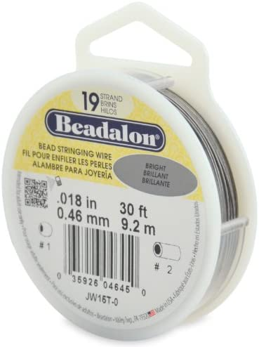 "Beadalon Gold Color .024/"" Bead Stringing Wire 19 Strand Flex Wire 30ft"